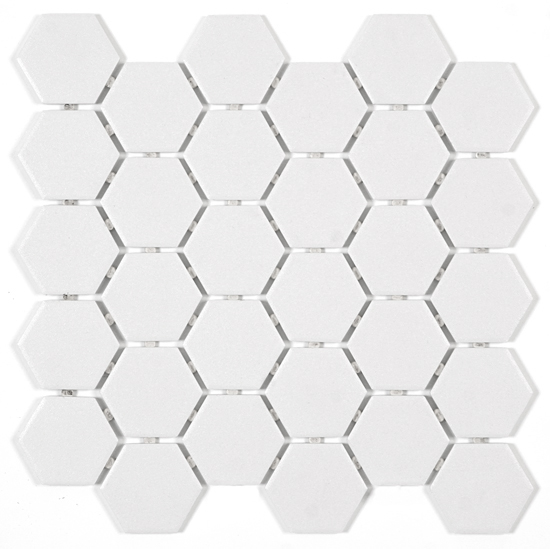 Artic White Hexagon