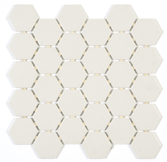 Pure White Hexagon
