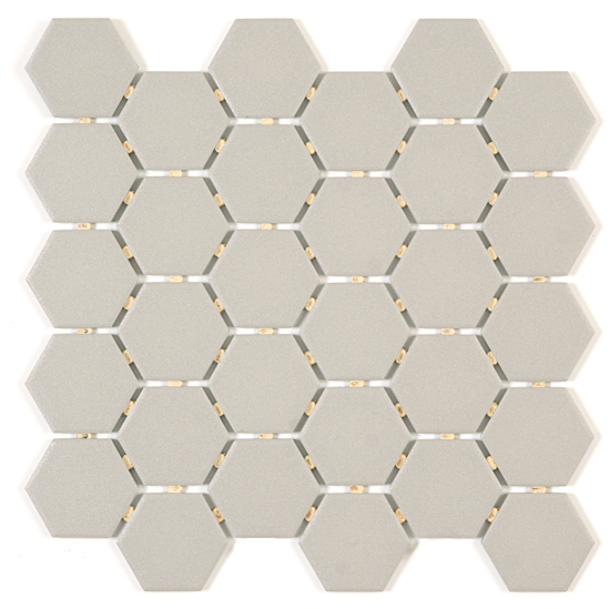 Sterling Grey Hexagon
