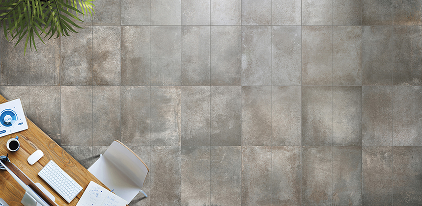 Rustic porcelain floor tile